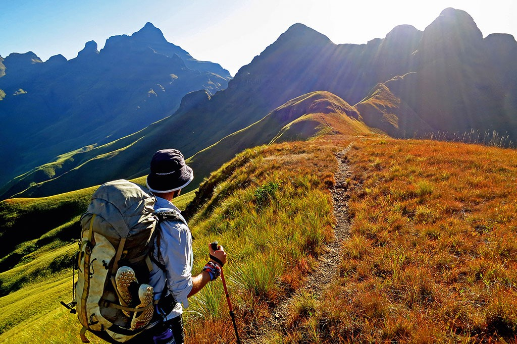 Hiking through the Drakensberg Mountains