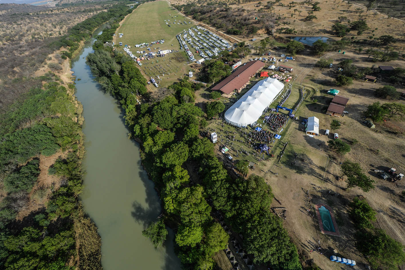 Berg And Bush Race Village Aerial View